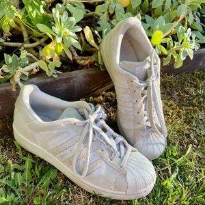 Rare Grey Suede Adidas Superstar Sneakers